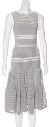 Alaia Pointelle Fit and Flare Dress