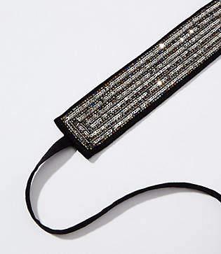 LOFT Sequined Tie Belt