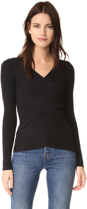 Bailey44 Reversible Ribbed Crossover Sweater $188 thestylecure.com
