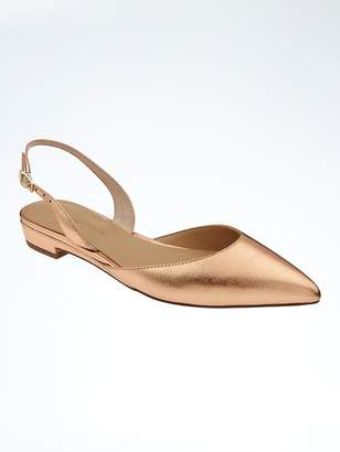 Pointed Toe Slingback Flat $108 thestylecure.com