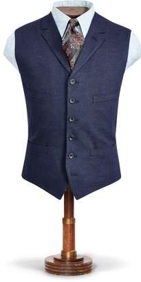 Ralph Lauren Indigo Herringbone Vest