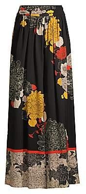 Kobi Halperin Women's Claudia Floral Stretch Silk Wide-Leg Pants