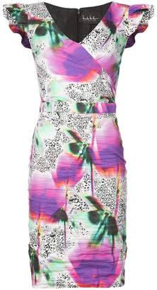 Nicole Miller fitted floral printed dress