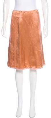 Marc Jacobs Satin Knee-Length Skirt