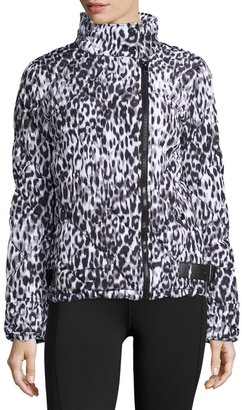 Marc NY Performance Leopard-Print Moto Puffer Jacket $75 thestylecure.com