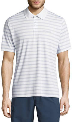Columbia Short Sleeve Stripe Knit Polo Shirt