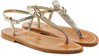 K. Jacques Picon Metallic Leather Sandals