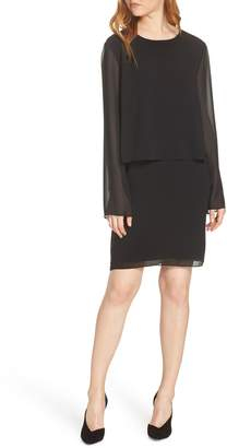 Charles Henry Layered Popover Chiffon Dress