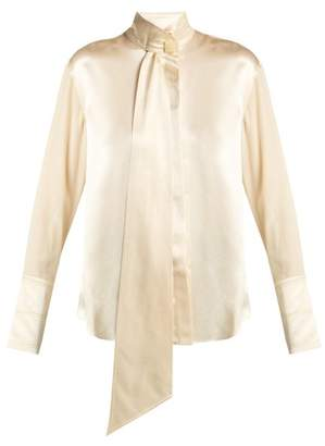 Roksanda Mila Pussy Bow Silk Blouse - Womens - Cream