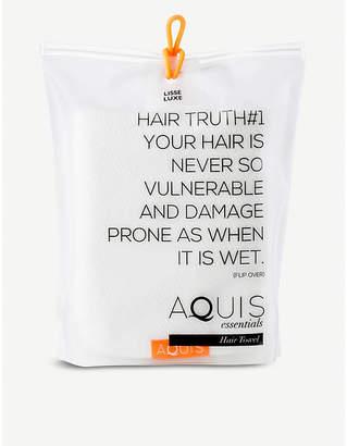 Aquis Lisse Luxe hair towel 50cm x 107cm