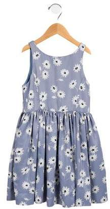 Polo Ralph Lauren Girls' Floral Print Sleeveless Dress