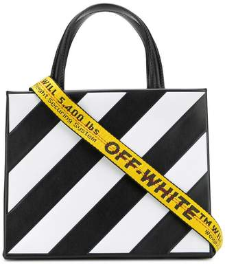 Off-White small striped tote bag