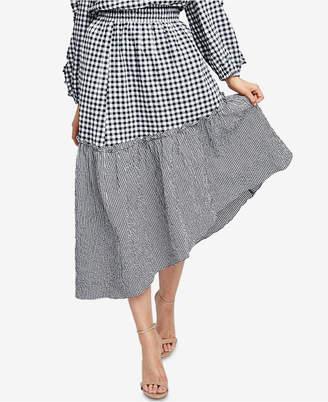 Rachel Roy Ava Gingham High-Low Skirt, Created for Macy's