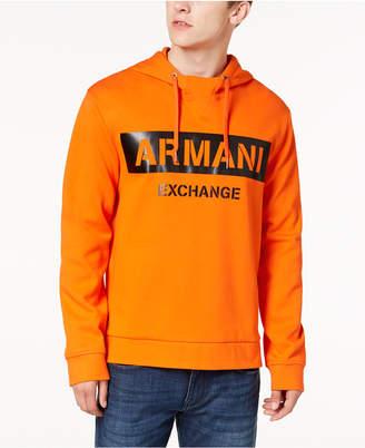 Armani Exchange Men's Oversized Logo-Print Hoodie