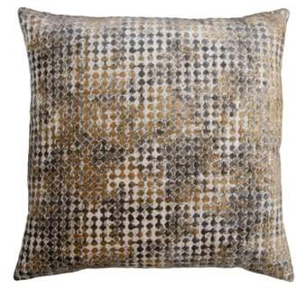 Square Feathers Domain Gem Accent Pillow