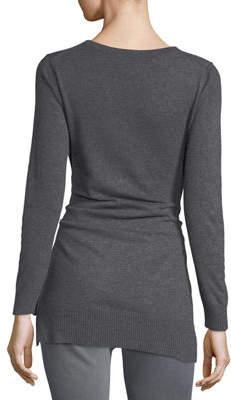 Zero Degrees Celsius Tie-Front V-Neck Sweater