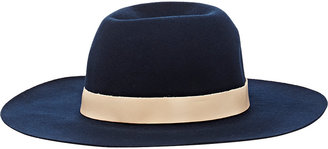 Hat Attack HAT ATTACK WOMEN'S LEATHER-TRIMMED HAT $109 thestylecure.com