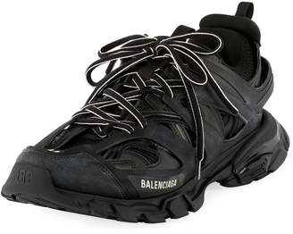 Balenciaga Men's Track Running Sneakers, Black