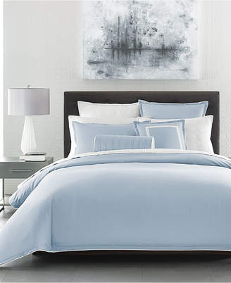Hotel Collection Contrast Flange Twin Duvet Cover, Created for Macy's Bedding