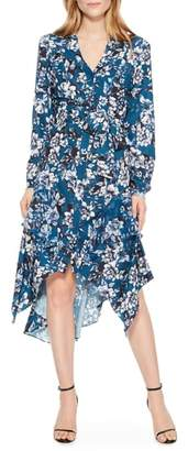 Parker Estella Asymmetrical Floral Shirtdress