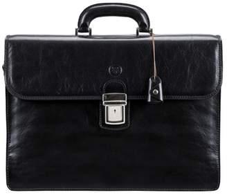 Maxwell Scott Bags Sleek Quality Italian Black Leather Men S Briefcase