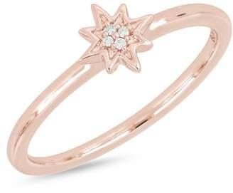 Bony Levy 18K Rose Gold Diamond Star Ring - 0.01 ctw