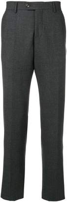 Eleventy creased tapered trousers