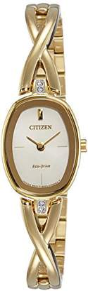 Citizen Womens Analogue Classic Solar Powered Watch with Stainless Steel Strap EX1412-82P