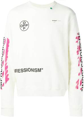 Off-White logo print sweatshirt