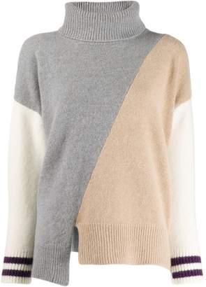 Zanone colour-block jumper