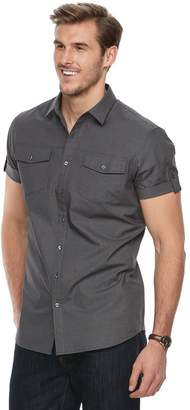 Apt. 9 Big & Tall Premier Flex Modern-Fit Stretch Woven Button-Down Shirt