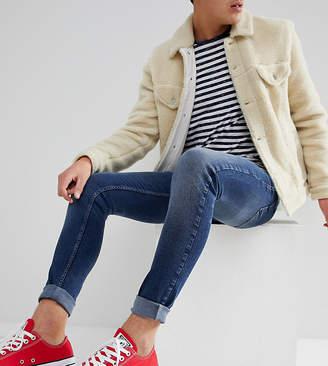 Just Junkies Super Skinny Jeans In Mid Wash