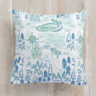 Treasure Map Square Pillow