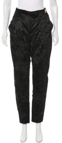 Christian Dior Mid-Rise Textured Pants