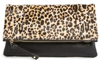 Sole Society 'Marlena' Faux Leather Foldover Clutch - Black $79.95 thestylecure.com
