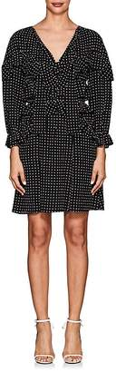 Majorelle Maison Mayle Women's Dot-Print Silk Dress