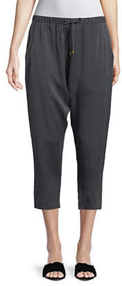 Eileen Fisher Sandwashed Silk Cropped Pants