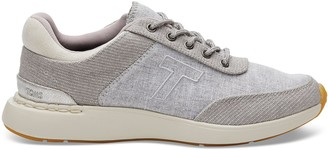 Toms Drizzle Grey Canvas with Slub Chambray Women's Arroyo Sneakers