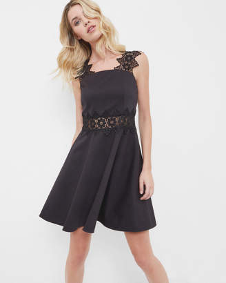 Ted Baker MONAA Lace detail textured dress