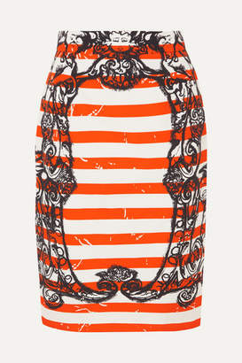 Prada Printed Cotton-poplin Skirt - Orange