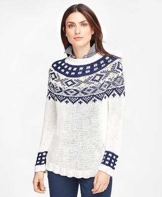 Supima® Cotton Fair Isle Sweater $228 thestylecure.com