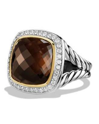 David Yurman Albion Ring with Smoky Quartz and Diamonds with 18k Gold $1,850 thestylecure.com