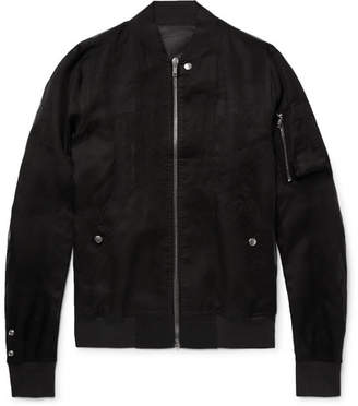 Rick Owens Cotton-Organza Bomber Jacket