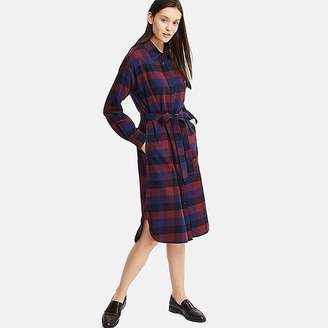 Uniqlo Women's Flannel Long-sleeve Shirt Dress