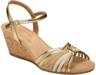 Aerosoles A2 by Cork Wedge Sandals - Fruit Cake