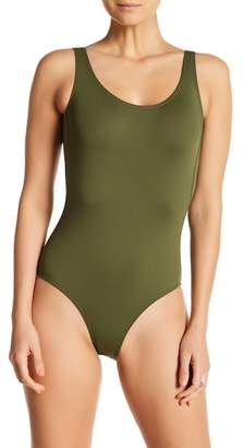 Sole East Swim Solid Scoop Back One Piece Swimsuit