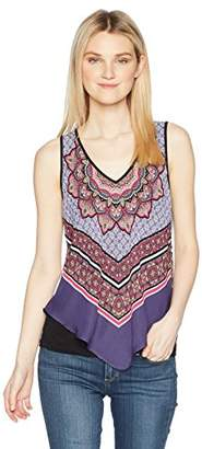 Amy Byer A. Byer Scarf Print Tank Top (Junior's)