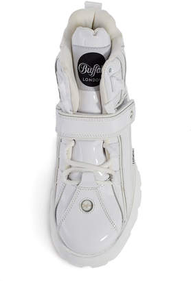 Buffalo London Charol Blanco High-Top Platform Sneaker