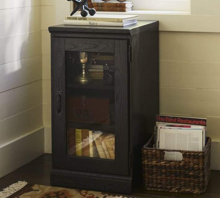 Printer's Single Glass Door Cabinet