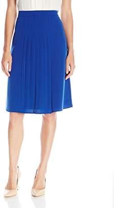 Lark & Ro Women's Pleated Just Below Knee Length Skirt